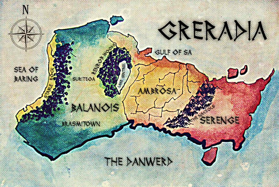 Map of Greradia
